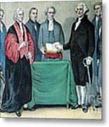 Inauguration Of George Washington, 1789 Metal Print