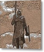 Inca Warrior Metal Print