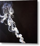Incense Smoke Rising, New Zealand Metal Print