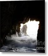 Incoming Tide Big Sur Metal Print