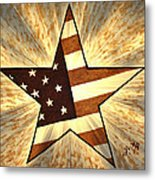 Independence Day Stary American Flag Metal Print