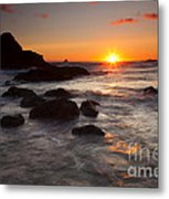 Indian Beach Sundown Metal Print
