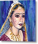 Indian Bride  Metal Print