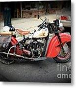 Indian Chief Motorcycle Rare Metal Print