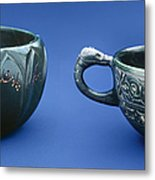 Indian Cups Metal Print