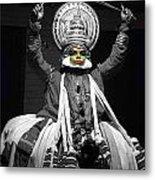 Indian Kathakali Dance Of Kerela 2 Metal Print