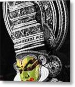 Indian Kathakali Dance Of Kerela 3 Metal Print