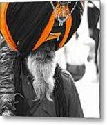 Indian Man Wearing Turban Metal Print