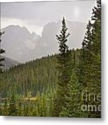 Indian Peaks Colorado Rocky Mountain Rainy View Metal Print