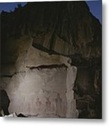 Indian Pictographs Are Illuminated Metal Print