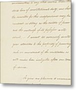 Indian Removal Act. Signed Into Law Metal Print by Everett