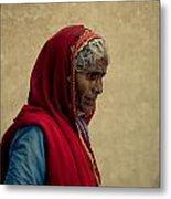 Indian Woman Metal Print
