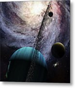 Indra, A Fast Spinning Gas Giant Metal Print