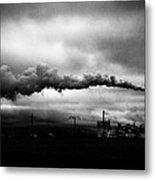 Industrial Eruption Metal Print