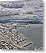 Industrial Harbor Metal Print