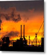 Industrial Strength Sunset Metal Print