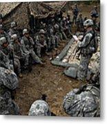 Infantrymen Receive Their Safety Brief Metal Print