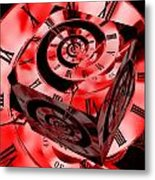 Infinity Time Cube Red Metal Print
