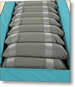 Inflated Hospital Air Mattress Metal Print by Mark Sykes