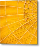 Inflating Folds Of Yellow Metal Print