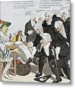 Influenza Epidemic, Satirical Artwork Metal Print