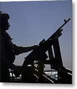 Information Systems Technician Manning Metal Print by Stocktrek Images