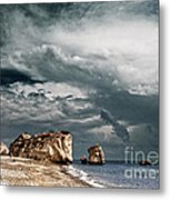 Infrared Aphrodite Rock Metal Print