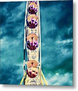 infrared Ferris wheel Metal Print
