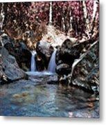 Infrared Waterfall Metal Print