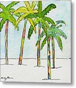 Inked Palms Metal Print