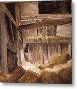 Inside Keeler's Barn Metal Print