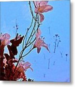 Inside Out Floral Design Metal Print