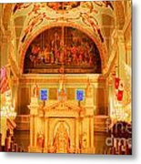 Inside St Louis Cathedral Jackson Square French Quarter New Orleans Accented Edges Digital Art Metal Print