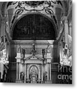 Inside St Louis Cathedral Jackson Square French Quarter New Orleans Black And White Metal Print