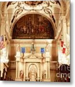 Inside St Louis Cathedral Jackson Square French Quarter New Orleans Diffuse Glow Digital Art Metal Print