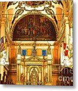 Inside St Louis Cathedral Jackson Square French Quarter New Orleans Digital Art Metal Print
