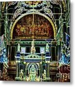 Inside St Louis Cathedral Jackson Square French Quarter New Orleans Glowing Edges Digital Art Metal Print