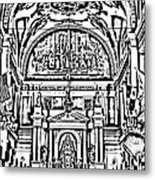Inside St Louis Cathedral Jackson Square French Quarter New Orleans Photocopy Digital Art Metal Print by Shawn O'Brien