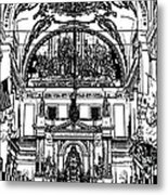 Inside St Louis Cathedral Jackson Square French Quarter New Orleans Stamp Digital Art Metal Print