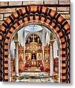 Inside St. Nicholas Chapel At A Greek Monastary In Florence Az Metal Print