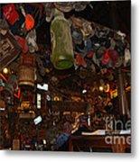 Inside The Bar In Luckenbach Tx Metal Print by Susanne Van Hulst