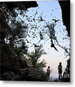 Inside The Bat Cave Metal Print