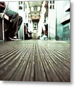Inside The L At A Low Angle Metal Print