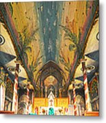 Inside The Painted Church Metal Print