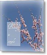 Inspirational Flowering Tree Metal Print