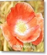 Inspire Beauty Poppy Floral Metal Print