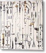 Instruments For Removing Bladder Stones Metal Print