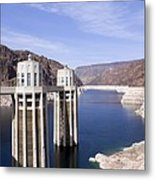 Intake Towers At Hoover Dam Metal Print