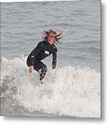 Intense Surfer Metal Print