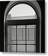 Interior - Windows In Black And White Metal Print